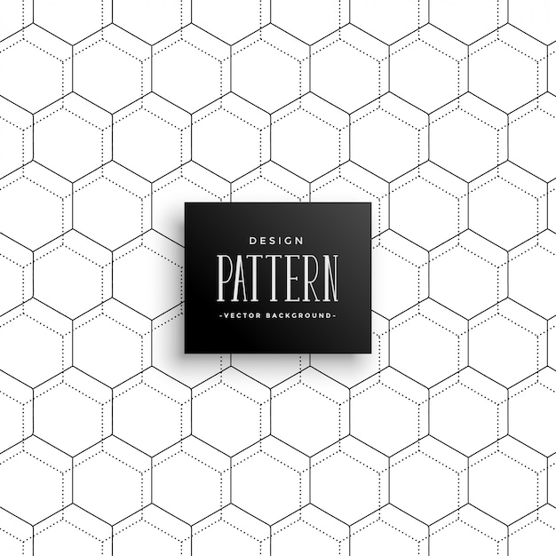 Awesome heaxagonal repetitive pattern Free Vector