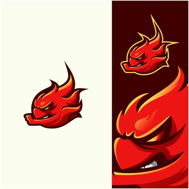 Awesome illustration fire logo Premium Vector