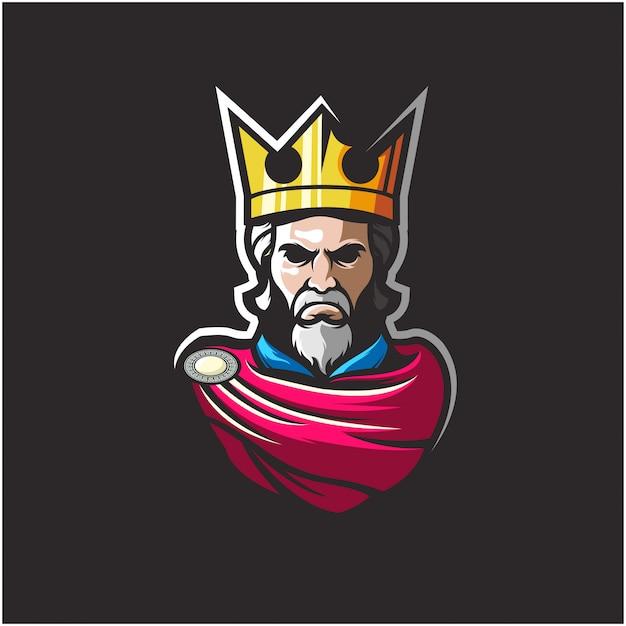 Удивительный логотип king Premium векторы