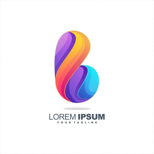 Awesome letter b logo design Premium Vector