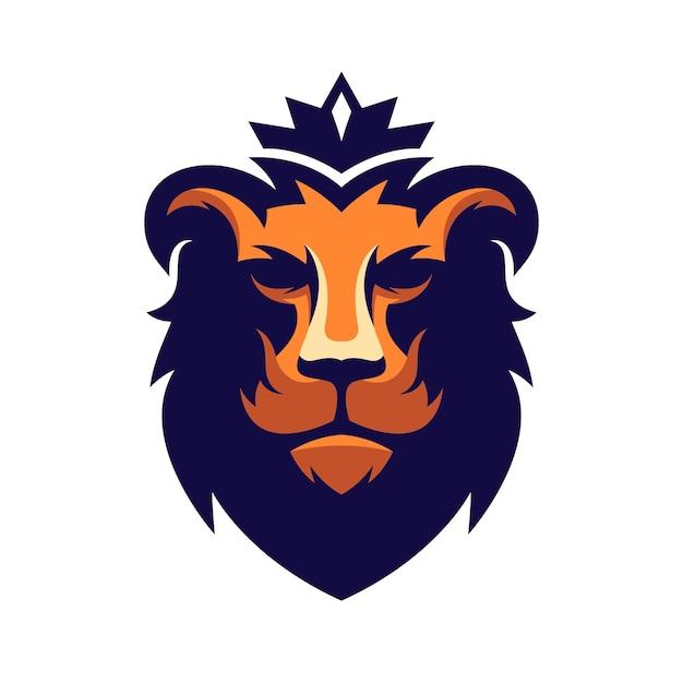 Удивительный дизайн логотипа льва Premium векторы