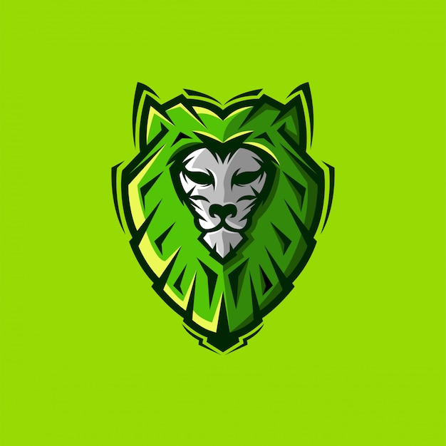 Удивительный логотип льва Premium векторы
