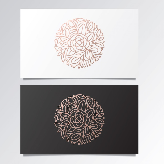 Awesome logo and business card set Premium Vector