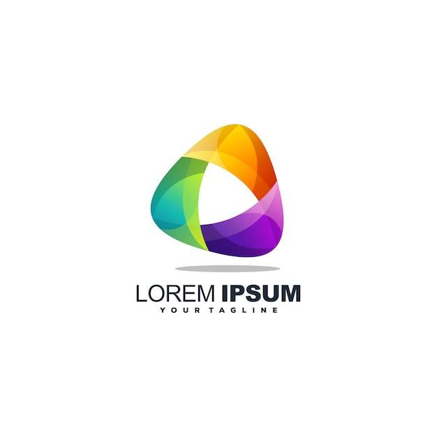 Awesome media logo design vector Premium Vector