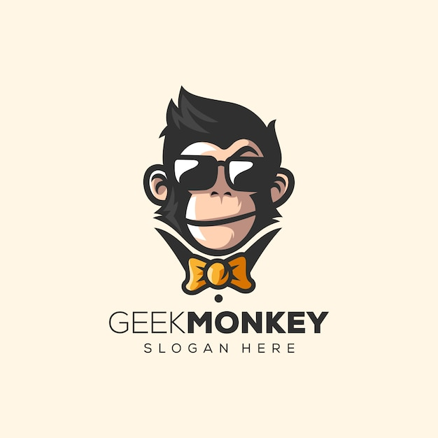 Awesome monkey logo vector illustration Premium Vector