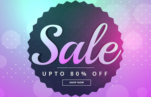 Awesome sale banner poster design Free Vector