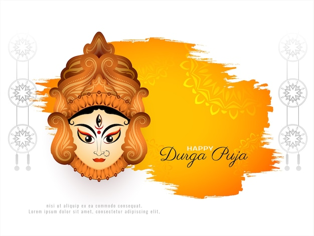 Awesome stylish happy durga puja festival background Free Vector