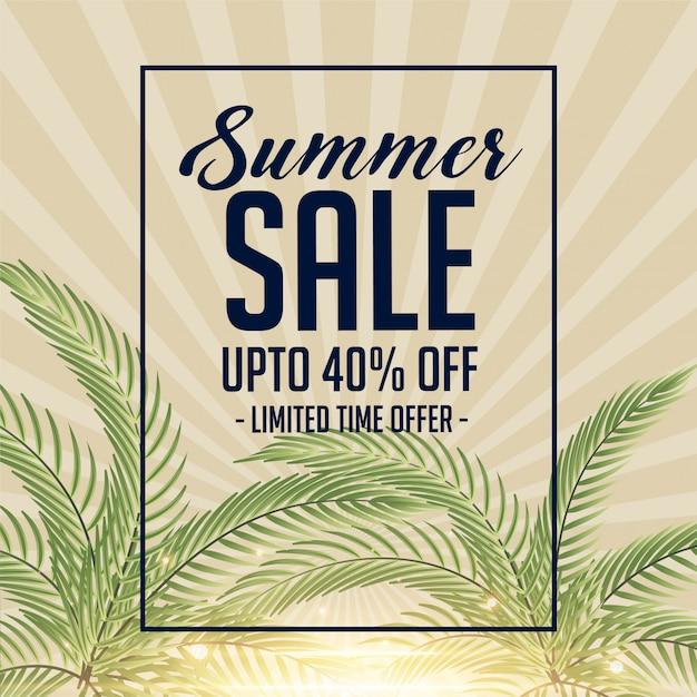 Awesome summer sale banner Free Vector