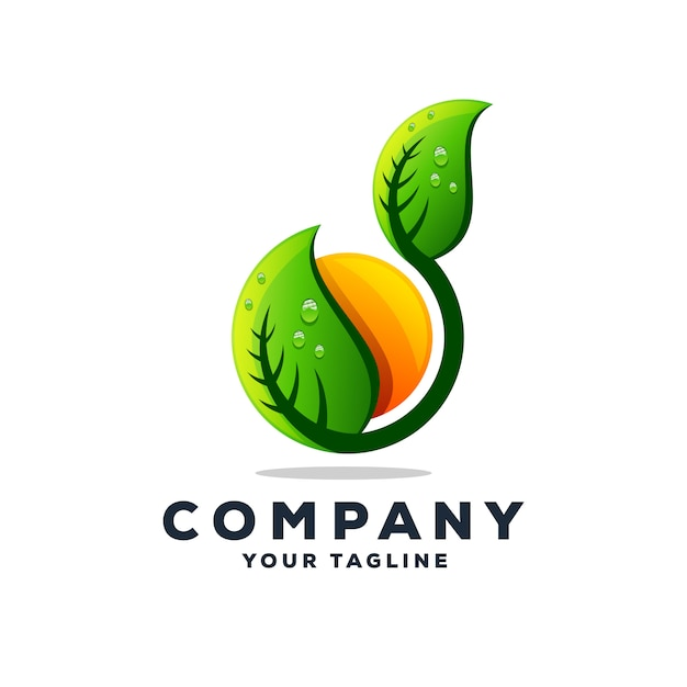 Awesome tree leaf logo design vector Premium Vector