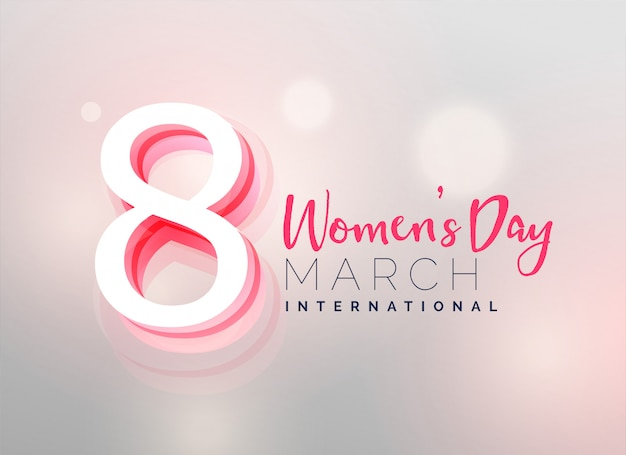 Awesome women's day wallpaper design Free Vector