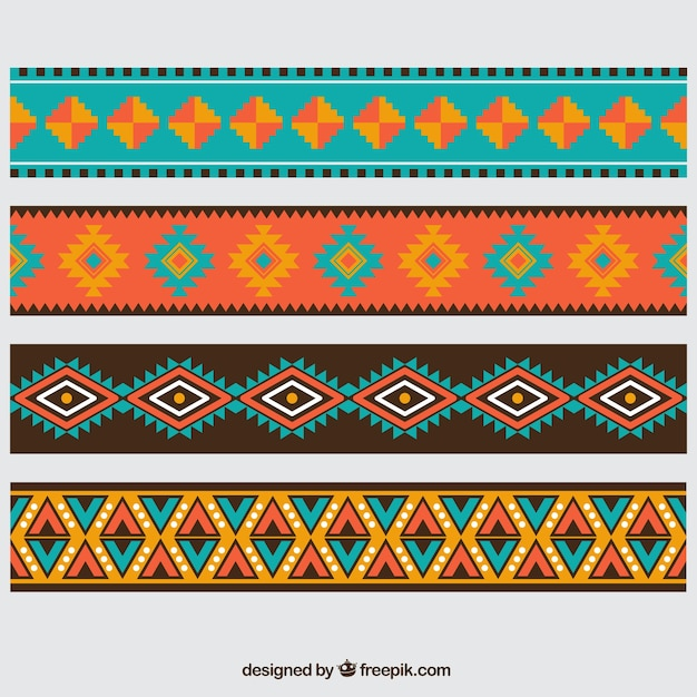 Aztec borders Free Vector