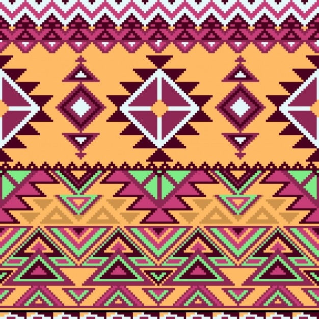 Aztec pattern geometric shapes Vector Free Download Amazing Aztec Pattern