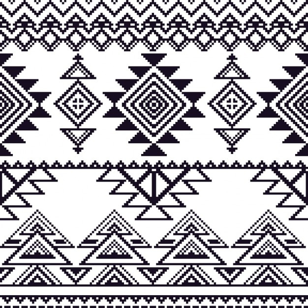Aztec pattern, without color Free Vector