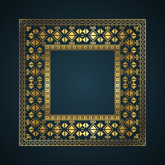 Aztec style border frame background Free Vector