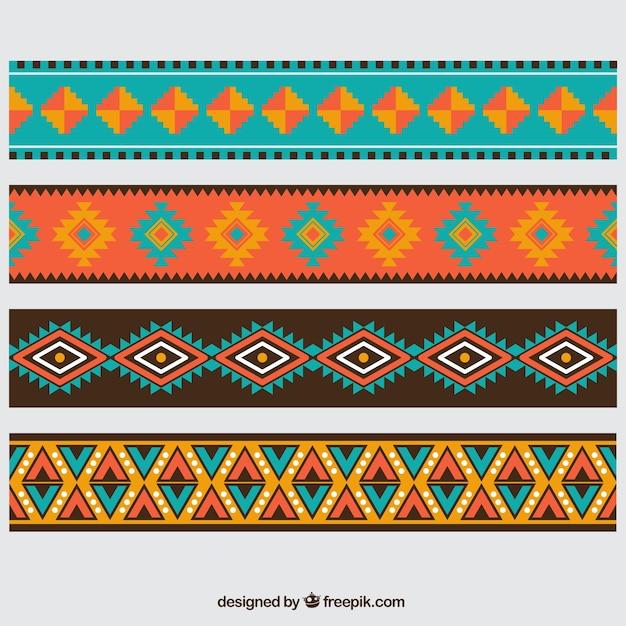 Aztec границы Бесплатные векторы
