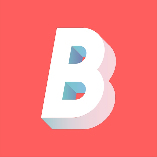 B letter Free Vector