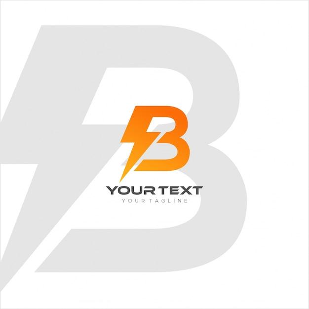 B lightning Premium Vector