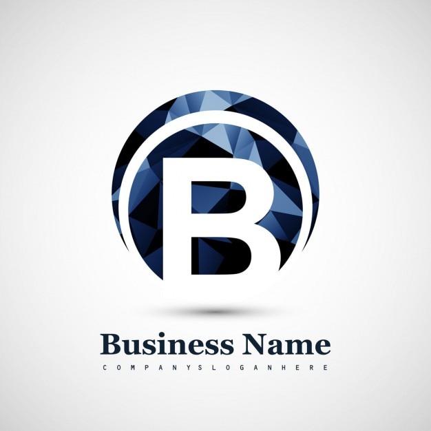 B Symbol Logo Free Vector