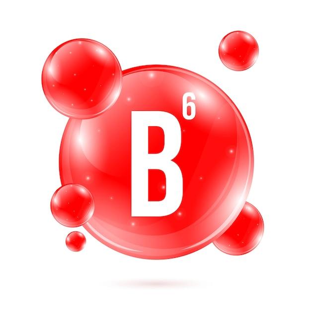 ビタミンb6ピリドキシンミネラルドロップピルカプセル Premiumベクター