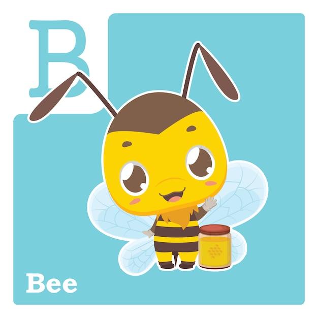 文字bのアルファベットカード Premiumベクター