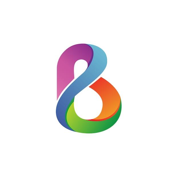 Буква b логотип вектор Premium векторы