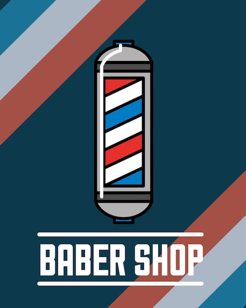 Baber shop design Premium Vector