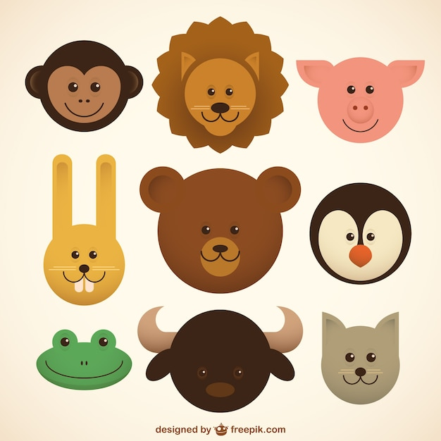 Baby Animals Icons Vector