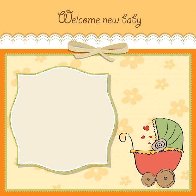 Baby Announcement Card Template Vector  Free Download
