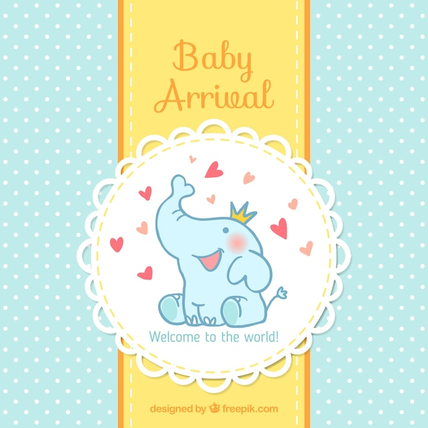 Baby Arrival Card Vector Free Download