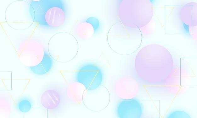 赤ちゃんの背景。柔らかなブルーの模様。創造的な装飾。ピンク、ブルー、バイオレットのボール。楽しいコンセプト。図。かわいい赤ちゃんの背景。 Premiumベクター