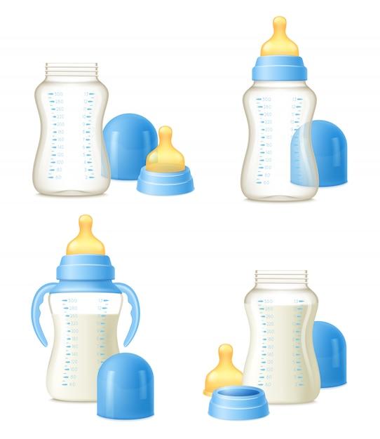 Baby bottle реалистичный конструктор Бесплатные векторы