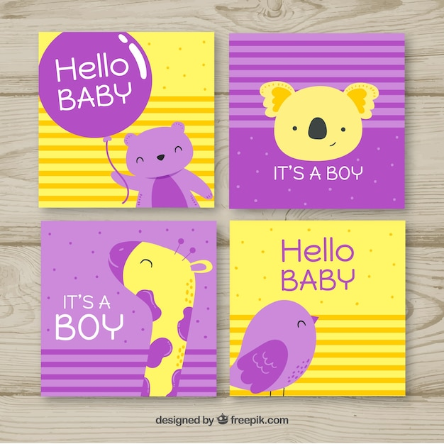 Baby boy cards collection