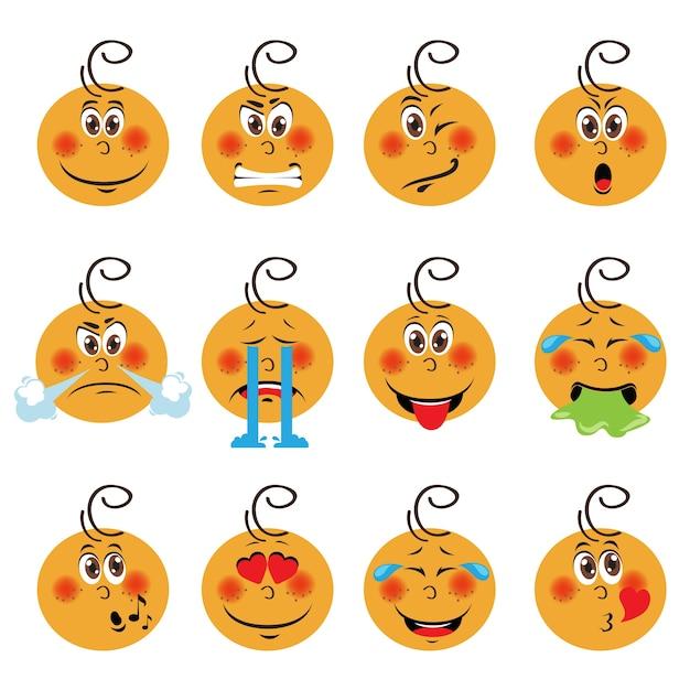 baby boy emoji set vector free download