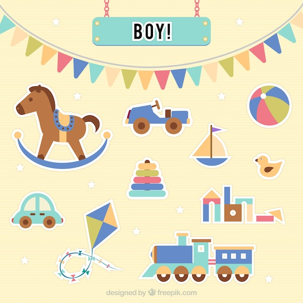 Baby Boy Toys Vector Free Download