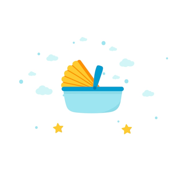 Baby carrier basket Free Vector