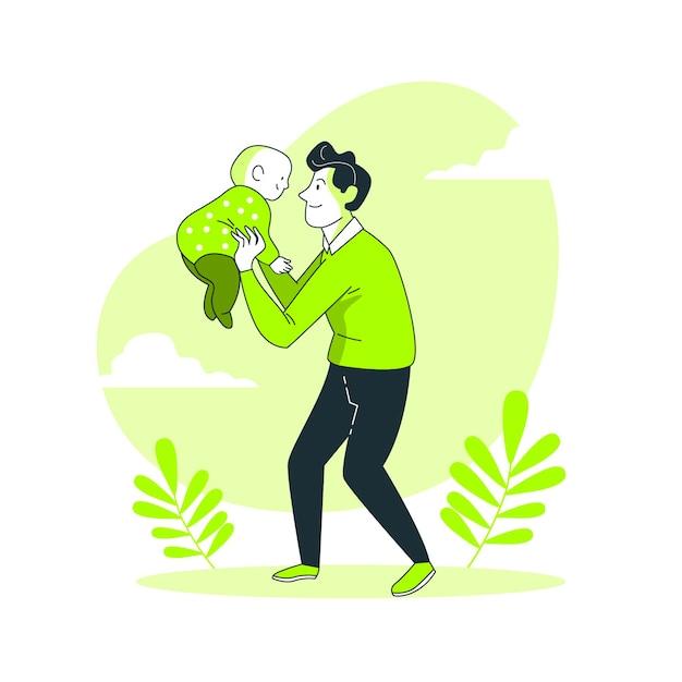 赤ちゃんの概念図 無料ベクター