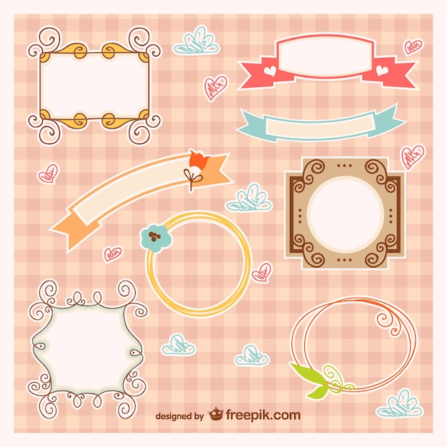 Baby frames and ribbons Vector | Free Download