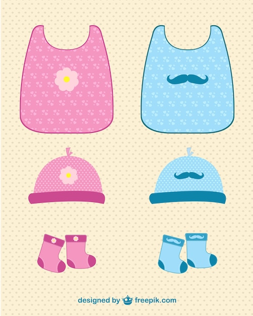 Baby girl and boy clothes set