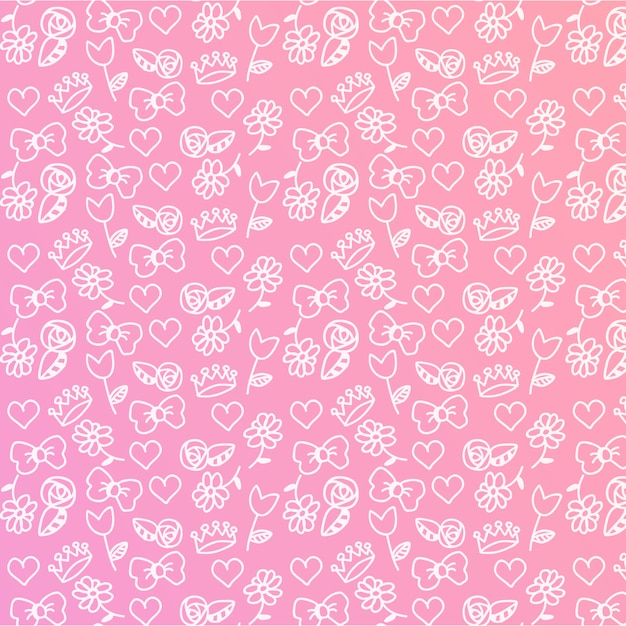 Baby girl редактируемый pattern Бесплатные векторы