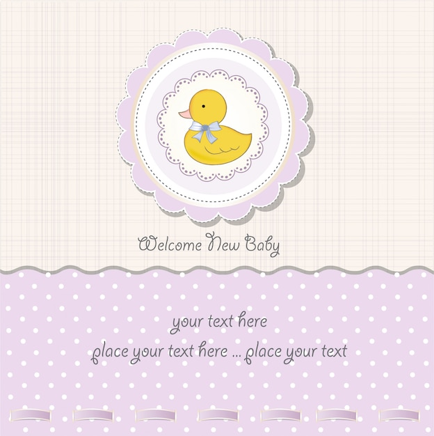 Baby girl shower card Premium Vector