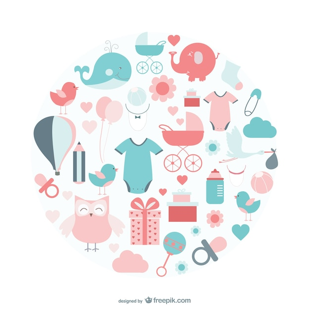 Baby icons vector Vector   Free Download