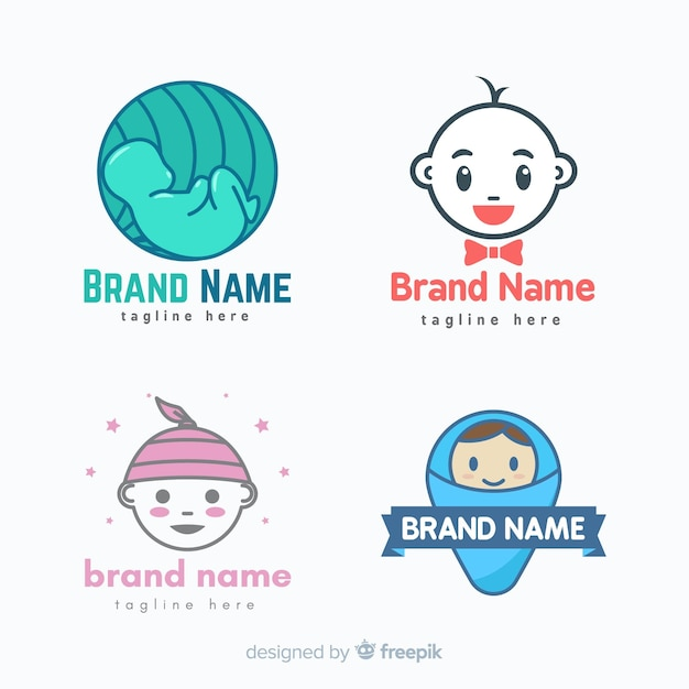 Baby logo collection Premium Vector