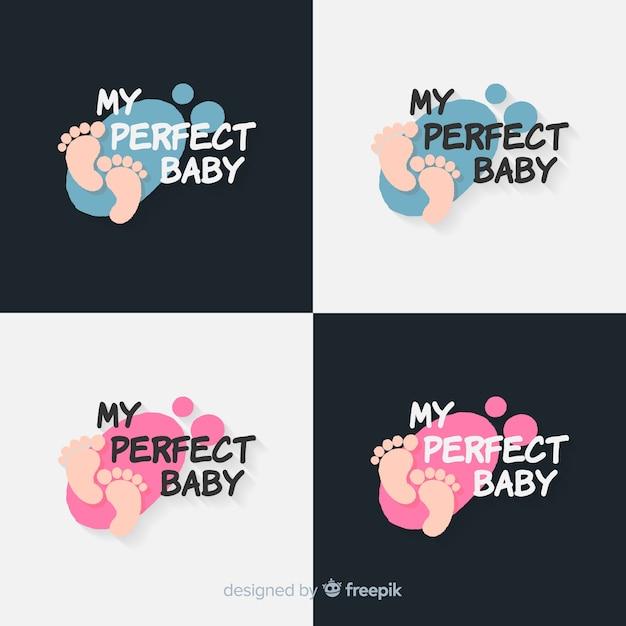 Baby logo collection Free Vector