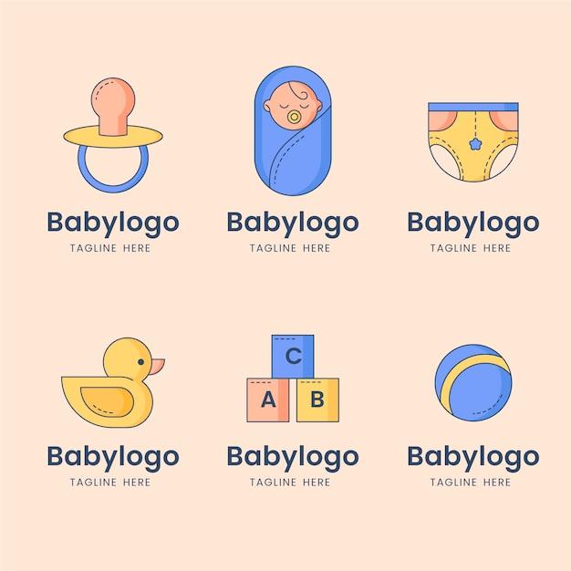 赤ちゃんのロゴコレクション Premiumベクター