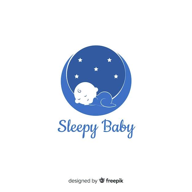 baby logo template vector
