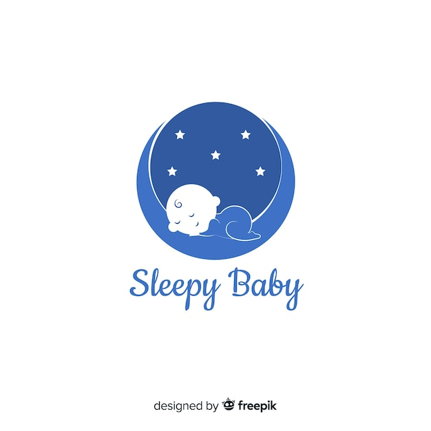 Baby logo template Free Vector
