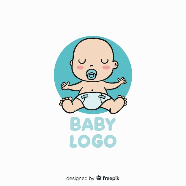 Baby logo template Free Vector