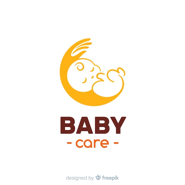 Baby logo Premium Vector