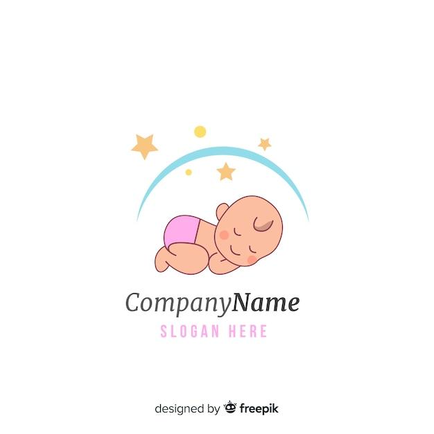 Baby logo Free Vector