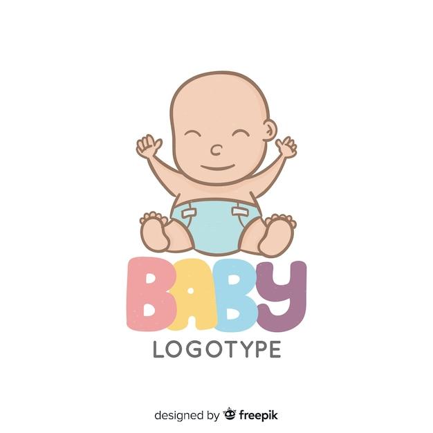 Baby logotype Free Vector